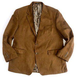 Ralph Lauren Men's Faux Suede Tan Blazer Jacket